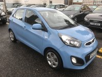USED 2012 12 KIA PICANTO 1.0 1 5d 68 BHP THIS CAR HAS MANUFACTURES WARRANTY UNTIL 2019, THE CAR COMES WITH 1 YEARS MOT AND OIL & FILTERS SERVICE. ALSO COME WITH 12 MONTH AA BREAKDOWN COVER.