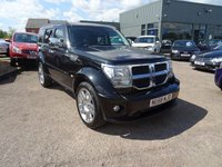 USED 2008 58 DODGE NITRO 2.8 SXT TD 5d AUTO 175 BHP 1 FORMER KEEPER, MOT OCT 2017 2 SERVICE STAMPS @ 23980mls & 57589mls With contrasting two tone Black and Grey leather trim, radio stereo CD player, two and four wheel drive lock, automatic gearbox, multifunction leather steering wheel, cruise control, cup holders, centre arm rest with storage, heated seats, park distance control, headlamp aim adjust, ESP, traction control, electric folding door mirrors, Aluminium pack, air conditioning, rear child Iso-fix, auto dimming rear view mirror,