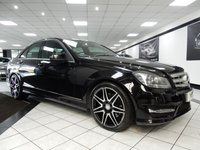 USED 2014 63 MERCEDES-BENZ C CLASS C350 CDI AMG SPORT PLUS AUTO BLUEEFF PAN ROOF COMAND NAV HTD LTHR