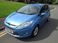 USED 2012 62 FORD FIESTA 1.2 ZETEC 5d 81 BHP 61,000 GUARANTEED MILES - SERVICE HISTORY - 2 OWNERS FROM NEW