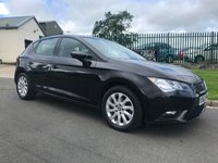 USED 2013 63 SEAT LEON 1.6 TDI SE 5d 42000 MILES 1 OWNER FSH IN BLACK COMPARE OUR PRICE