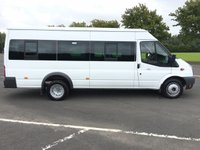 USED 2014 14 FORD TRANSIT 2.2 430 MINIBUS 17 SEAT 134 BHP GREAT ALL ROUND CONDITION, READY TO GO