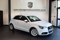 USED 2012 61 AUDI A1 1.6 TDI SPORT 3d 103 BHP + HALF BLACK LEATHER INTERIOR + FULL SERVICE HISTORY + BLUETOOTH + SPORT SEATS + AUXILIARY PORT + HEATED MIRRORS + 16 INCH ALLOY WHEELS +