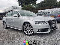 USED 2009 59 AUDI A4 2.0 TDI S LINE 4d 141 BHP 2 PREVIOUS OWNER + FULL DEALER SERVICE HISTORY