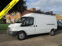 USED 2012 62 FORD TRANSIT 2.2TDCI T350 LWB MEDIUM ROOF ECONETIC 125BHP. FSH. PX LOW FINANCE FROM £80 PER MONTH. PX WELCOME