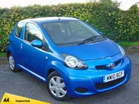 USED 2010 10 TOYOTA AYGO 1.0 BLUE VVT-I 3d * £20.00 A YEAR ROAD TAX * AVG 62.8 MPG *128 POINT AA INSPECTED*
