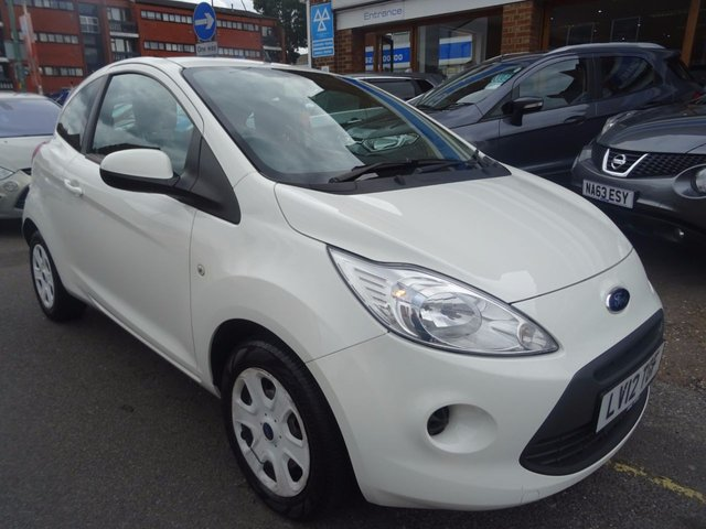 2012 12 FORD KA 1.2 EDGE 3d 69 BHP  OXFORD WHITE/GREY TRIM