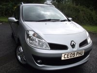 2009 RENAULT CLIO 1.5 DYNAMIQUE DCI SPORT TOURER 5d 85 BHP ** YES ONLY 33K, DIESEL, 1 PREVIOUS OWNER ** £3695.00