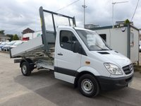 USED 2013 13 MERCEDES-BENZ SPRINTER 313 CDI MWB AUTOMATIC TIPPER, 130 BHP [EURO 5], 2 FORMER OWNER