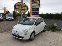 2013 FIAT 500 POP 1.2 3 DOOR IN WHITE **ONLY 48000 MILES**5 SERVICE STAMPS** £4495.00