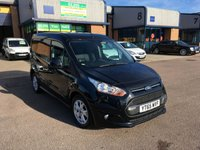 USED 2015 65 FORD TRANSIT CONNECT 1.6 200 LIMITED P/V 1d 114 BHP FSH, FULLY LOADED, 3 SEATS, FORD WARRANTY & FINANCE AVAILABLE. FSH, Remaining Ford warranty until 2019, A/C, Alloys, Bluetooth, Parking sensors, alloys, rain sensitive wipers, heated seat, heated screen, E/W, Radio/CD, Drivers airbag, etc. Factory fitted bulk head, Side loading door, Very Good Condition, 1 Owner, remote Central Locking, Drivers Airbag, CD Player/FM Radio, Steering Column Radio Control, Side Loading Door, Barn Rear Doors,