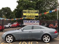 """USED 2006 06 MERCEDES-BENZ CLS CLASS 3.0 CLS320 CDI 4d AUTO 222 BHP STUNNING GREY METALLIC WITH FULL BLACK LEATHER UPHOLSTERY. 19"""" AMG ALLOY WHEELS. SAT NAV. VERY HIGH SPECIFICATION."""