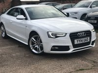 USED 2014 14 AUDI A5 2.0 TDI S LINE S/S 2dr AUTO 177 BHP 1 Owner, Full Leather, FSH