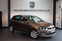 USED 2014 14 VOLKSWAGEN POLO 1.2 MATCH EDITION TDI 5DR 74 BHP + FULL VW SERVICE HISTORY + 1 OWNER FROM NEW + SPORT SEATS + DAB RADIO + CRUISE CONTROL + PARKING SENSORS + 15 INCH ALLOY WHEELS +