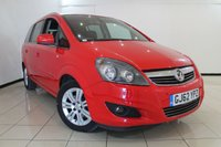 USED 2012 62 VAUXHALL ZAFIRA 1.8 DESIGN 5DR 138 BHP AIR CONDITIONING + 7 SEATS + PARKING SENSOR + MULTI FUNCTION WHEEL + 16 INCH ALLOY WHEELS