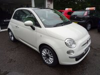 USED 2014 14 FIAT 500 1.2 LOUNGE 3d 69 BHP Low Mileage, Full Service History + Just Serviced by ourselves, One Lady Owner from new, MOT until August 2018 (no advisories), Great on fuel! Only £30 Road Tax!