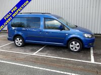 USED 2012 12 VOLKSWAGEN CADDY MAXI 1.6 C20 LIFE TDI 7 SEAT WHEELCHAIR ACCESSIBLE FOLD FLAT RAMP DIRECT FROM MOTABILITY