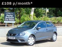 USED 2015 15 SEAT IBIZA 1.2 S A/C 3d 69 BHP GREAT VALUE, FULL SERVICE HISTORY, AUX CONNECTION