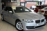 USED 2016 16 BMW 5 SERIES 2.0 520D SE TOURING 5d 188 BHP FULL DAKOTA BLACK LEATHER SEATS + FULL BMW SERVICE HISTORY + SAT NAV + BLUETOOTH + CRUISE CONTROL + HEATED SEATS + PARKING SENSORS + DAB RADIO + 17 INCH ALLOYS