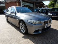 USED 2012 62 BMW 5 SERIES 2.0 520D M SPORT TOURING 5d AUTO 181 BHP FULL BMW HISTORY,TWO KEYS,HEATED SEATS