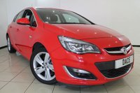 USED 2014 14 VAUXHALL ASTRA 1.6 SRI 5DR 113 BHP FULL SERVICE HISTORY + AIR CONDITIONING + PARKING SENSOR + BLUETOOTH + CRUISE CONTROL + MULTI FUNCTION WHEEL + 17 INCH ALLOY WHEELS