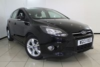 USED 2013 13 FORD FOCUS 1.6 ZETEC 5DR AUTOMATIC 124 BHP AIR CONDITIONING + PARKING SENSOR + BLUETOOTH + MULTI FUNCTION WHEEL + 16 INCH ALLOY WHEELS