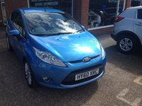 USED 2010 60 FORD FIESTA 1.4 TITANIUM 3 DOOR 96 BHP PETROL IN METALLIC BLUE APPROVED CARS ARE PLEASED TO OFFER THIS FORD FIESTA 1.4 TITANIUM 3 DOOR 96 BHP PETROL IN METALLIC BLUE WITH A DOCUMENTED SERVICE HISTORY SERVICED AT 8K,16K,27K,53K AND 76K ALONG WITH A GREAT SPEC INCLUDING AIR CON,2 KEYS,ABS,CD,ALLOYS,E/WINDOWS,P/STEERING AND CENTRAL LOCKING AN IDEAL SMALL RUN ABOUT OR FIRST CAR.