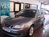 USED 2007 57 SAAB 9-3 1.9 VECTOR S ANNIVERSARY LTD TID 4d 151 BHP This 9-3 is finished in Metallic Grey with Black leather seats. It is fitted with power steering, Sat Nav, remote locking, electric windows and mirrors, climate control, air con is cold!!, cruise control, rear parking sensors, alloy wheels, CD Stereo and more. It has had 3 owners and comes with a service history consisting of stamps and invoices. The current Mot runs till August 2018 and has been recently serviced. Finance and extended warranties are available.