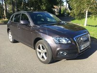 USED 2012 12 AUDI Q5 2.0 TDI QUATTRO S LINE 5d AUTO 170 BHP FULL AUDI HISTORY IN GREY WITH FULL BLACK SPORTS LEATHER SAT NAV PARK DISTANCE
