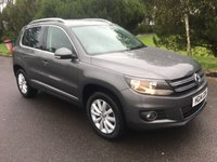 USED 2014 14 VOLKSWAGEN TIGUAN 2.0 MATCH TDI BLUEMOTION TECH 4MOTION DSG 5d AUTO 139 BHP ONE OWNER WITH NAV AUTOMATIC 4X4 ONLY 47000 MILES FSH