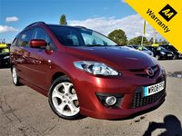 USED 2008 08 MAZDA MAZDA 5 2.0 SPORT D 5d 143 BHP!p/x welcome! 2 OWNERS! FULL DEALER HIST! BLUETOOTH! CRUISE! 6 CD CHANGER! TIMING CHAIN DRIVEN! NEW MOT! 2 OWNRS! BLUETOOTH! FULL DEALR HIST! CRUISE & CLIMATE CNTRL! PRIVACY GLASS! NEW MOT!