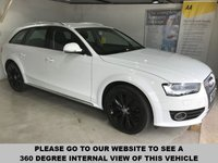USED 2013 13 AUDI A4 ALLROAD 2.0 ALLROAD TDI QUATTRO S/S 5d 174 BHP Audi Concert sound system, Bluetooth, Remotely operated tailgate, Rear parking sensors