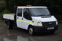 USED 2013 13 FORD TRANSIT 2.2 350 DRW 4d 124 BHP LWB RWD 6 SEATER D/CAB EURO 5 COMBI DIESEL TIPPER  ONE OWNER FULL S/H SPARE KEY
