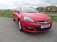 2014 VAUXHALL ASTRA 1.6 TECH LINE 5d ESTATE AUTO  SAT-NAV 115 BHP RED £7995.00