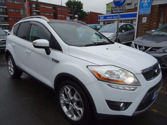 2012 12 FORD KUGA 2.0 TITANIUM X TDCI 5d 163 BHP FROZEN WHITE/BLACK LEATHER