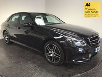 USED 2015 15 MERCEDES-BENZ E CLASS 2.1 E220 BLUETEC AMG NIGHT EDITION 4d AUTO 174 BHP HISTORY-1 OWNER-LEATHER-NAV-ALLOYS