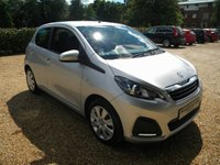 USED 2014 14 PEUGEOT 108 1.0 ACTIVE 5d 68 BHP Touch Screen Radio. £0 Years Tax, High MPG