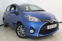 USED 2015 15 TOYOTA YARIS 1.3 VVT-I ICON 5DR 99 BHP FULL TOYOTA SERVICE HISTORY + AIR CONDITIONING + BLUETOOTH + MULTI FUNCTION WHEEL  + 15 INCH ALLOY WHEELS