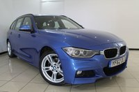 USED 2012 62 BMW 3 SERIES 2.0 320D M SPORT TOURING 5DR 181 BHP LEATHER SEATS + SAT NAVIGATION PROFESSIONAL + PARKING SENSOR + BLUETOOTH + CRUISE CONTROL + ELECTRIC SUNROOF