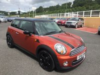 USED 2012 61 MINI HATCH COOPER 1.6 COOPER 3d 122 BHP Metallic Copper Orange with Black Package & only 46,000 miles FSH