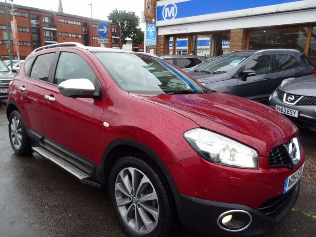 2011 61 NISSAN QASHQAI 2.0 TEKNA DCI 4WD 5d AUTO 148 BHP  MAGNETIC RED/BLACK LEATHER.