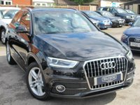 USED 2014 14 AUDI Q3 TFSI S LINE 5d AUTO 150 BHP + HEATED LEATHER + NAV