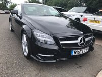 USED 2014 64 MERCEDES-BENZ CLS CLASS 2.1 CLS250 CDI BLUEEFFICIENCY AMG SPORT 4d AUTO 204 BHP