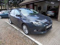 USED 2014 14 FORD FOCUS 1.6 ZETEC TDCI 5d 113 BHP 1 OWNER FROM NEW, £20 ROAD TAX, FULL SERVICE HISTORY