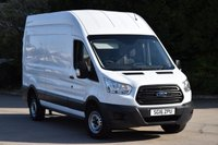 USED 2016 16 FORD TRANSIT 2.2 350 P/V 5d 125 BHP EURO 5 LWB L3 H3 H/ROOF RWD DIESEL MANUAL VAN ONE OWNER FULL S/H SPARE KEY