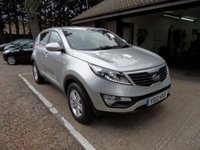 USED 2013 13 KIA SPORTAGE 1.7 CRDI 1 5d 114 BHP FULL SERVICE HISTORY, 2 KEYS, 2 OWNERS, USB AND AUX CONNECTION, CRUISE CONTROL