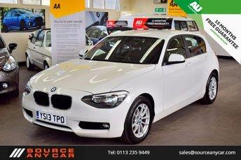 2013 BMW 1 SERIES 1.6 116D EFFICIENTDYNAMICS 5d 114 BHP £8750.00