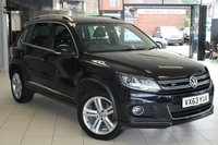 USED 2013 63 VOLKSWAGEN TIGUAN 2.0 R LINE TDI BLUEMOTION TECHNOLOGY 4MOTION 5d 139 BHP FULL VW SERVICE HISTORY + BLUETOOTH + AUTOMATIC LIGHTS + DAB RADIO + PARK ASSIST + 18 INCH ALLOYS + PRIVACY GLASS + TOW BAR + DUEL CLIMATE CONTROL