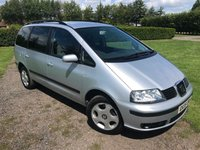2005 SEAT ALHAMBRA 2.0 REFERENCE 5d 114 BHP Full Service History, MOT 04/18, Tidy Example,  £1499.00