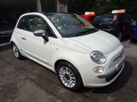 USED 2013 13 FIAT 500 1.2 CONVERTIBLE LOUNGE 3d 69 BHP One Owner from new, Just Serviced by ourselves, MOT until August 2018 (no advisories), Great on fuel! Only £30 Road Tax! Convertible